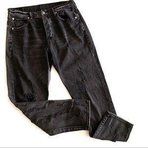 American Eagle   High Rise Girlfriend Black Jeans